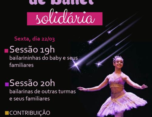 Apresentação de Ballet Solidária